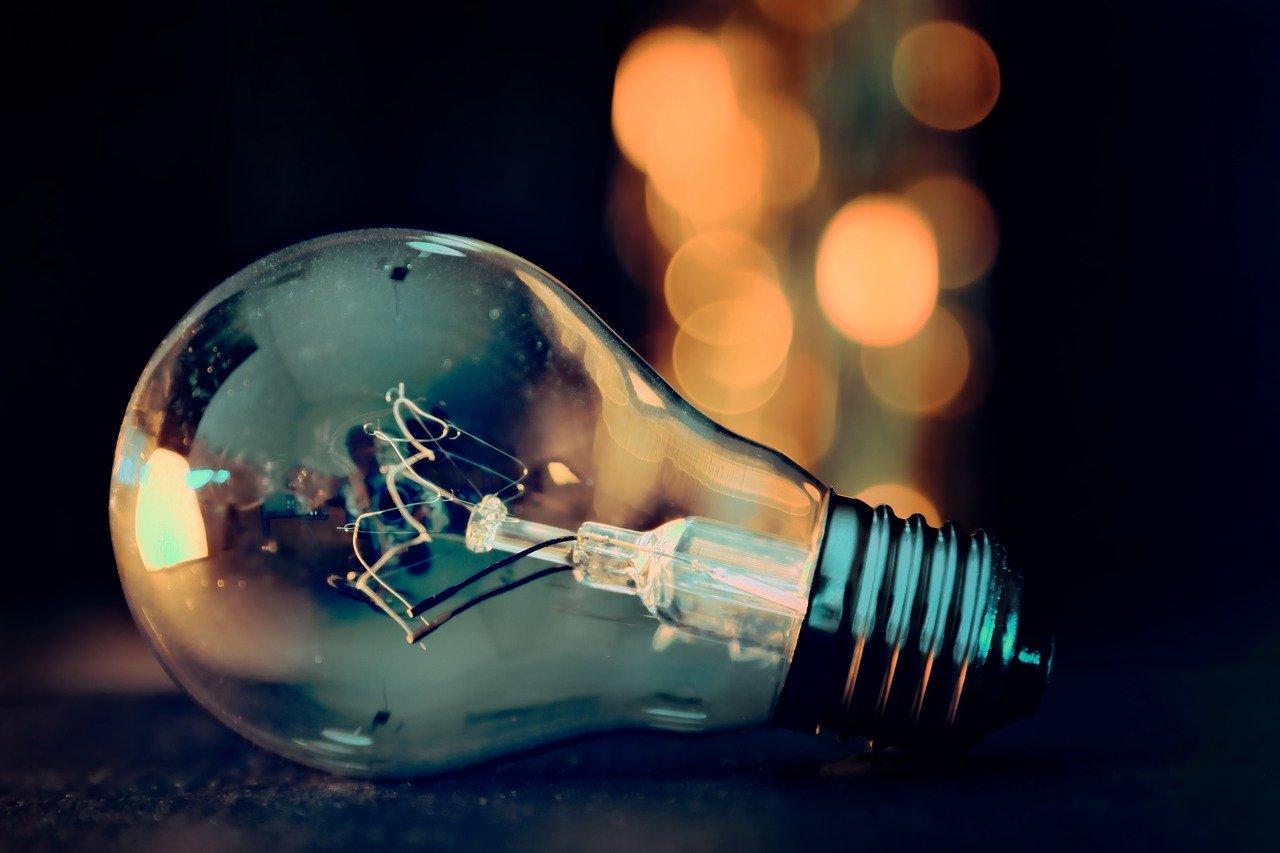 Dusty light bulb lying on the floor
