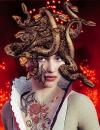 Medusa in fiery scenery